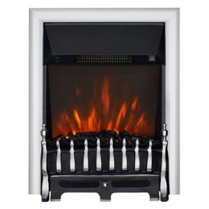 View Focal Point Blenheim Chrome Effect Inset Electric Fire details