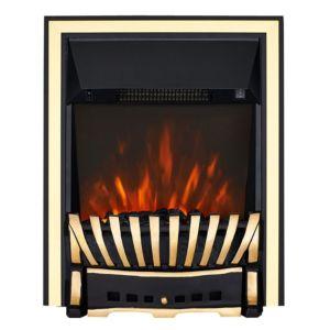 Image of Blenheim Brass & Black LED Inset Electric Fire