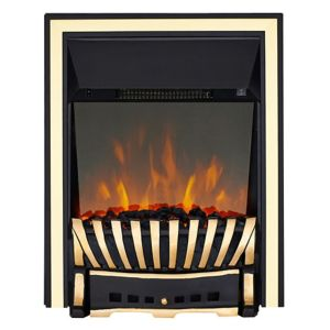 Image of Elegance Brass & Black LED Reflections Inset Electric Fire