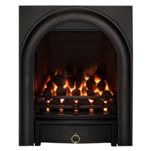 View Focal Point Arch Black Manual Control Inset Gas Fire details