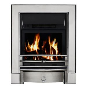 View Focal Point Soho LCD Display Electric Inset, Semi-Inset or Freestanding Fire, Chrome Effect details