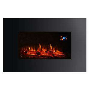 View Focal Point Charmouth Black LED Display Remote Control Wall Hung Electric Fire details