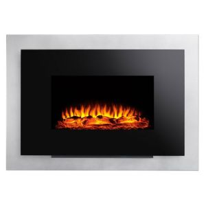 View Focal Point Yeovilton Black LED Display Remote Control Wall Hung Electric Fire details