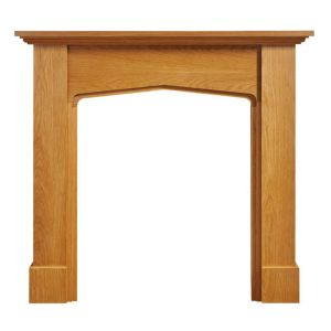 View Mini Mercia Oak Veneer Fire Surround details