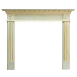 View Woodthorpe Pine Veneer MDF Fire Surround details