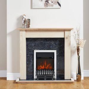 Blenheim Chrome Electric Fire Suite