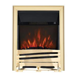 Horizon Brass LED Electric Fire