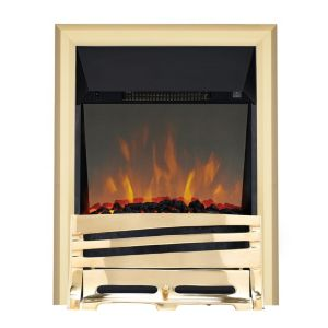 Horizon Brass LED Reflections Electric Fire
