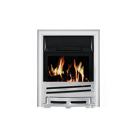 Focal point horizon chrome lcd display electric remote for Be modern detroit electric fire