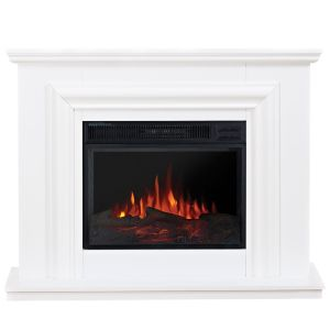Image of Amersham White LED Electric Fire Suite
