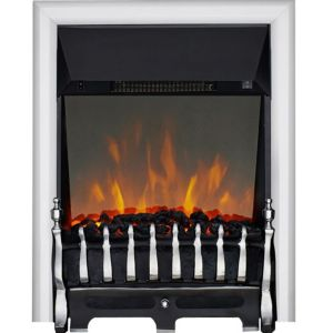 Image of Focal Point Blenheim Black & Chrome effect LED Remote control Electric fire