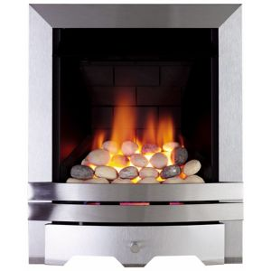 View Focal Point Lulworth Inset Gas Fire Brushed Stainless Steel Fret details