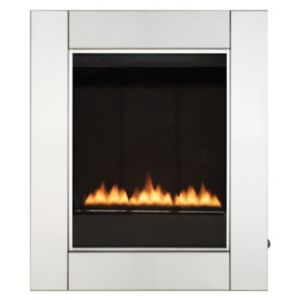 View Focal Point Monet Wall Hung Gas Fire Stainless Steel Effect Front details