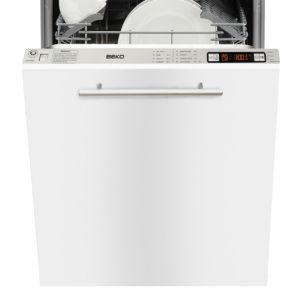 View Beko QDW486 Built In Slimline Dishwasher, White details