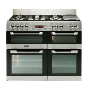 Image of Leisure Freestanding Dual Fuel Range Cooker with Gas Hob CS110F722X