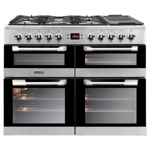Image of Leisure Freestanding Dual fuel Range cooker with Gas hob CS100F520X