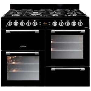 View Leisure Duel Fuel Cookmaster Range Cooker, Black Glass & Stainless Steel details