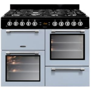 View Leisure Duel Fuel Cookmaster Range Cooker, Blue Glass & Stainless Steel details