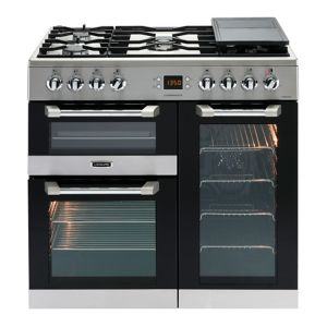 Image of Leisure Freestanding Dual Fuel Range Cooker with Gas Hob CS90F530X