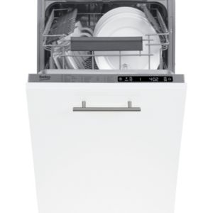 Beko DIS28Q20 Integrated Slimline Dishwasher Stainless Steel