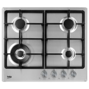 Image of Beko HCMW64225SX 4 Burner Stainless Steel Gas Hob