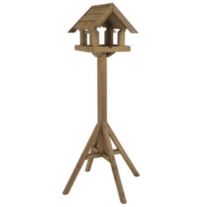 View Gardman Dark Oak Effect Timber Bird Table (H)160mm (W)810mm (D)810mm details