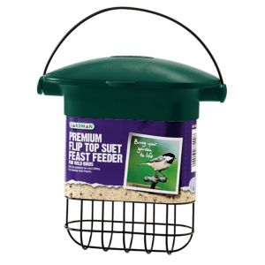 Gardman Green & Black Plastic Bird Feeder (H)170mm