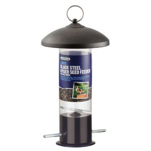 View Gardman Black Steel Bird Feeder (H)270mm details