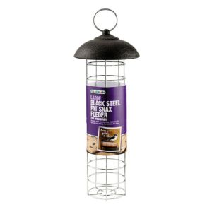 View Gardman Black Steel Bird Feeder (H)190mm details