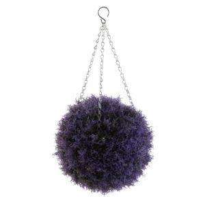 View Blooma Purple Heather Hanging Topiary Ball details