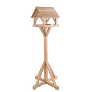 View Gardman Wood Effect Timber Bird Table (H)1.44m (W)600mm (D)600mm details