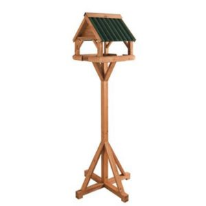 View Gardman Wood Effect Timber Bird Table (H)1.56m (W)650mm (D)430mm details