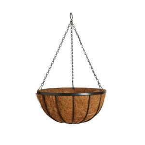 Gardman Traditional Georgian Black Hanging Basket 14