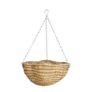 """Gardman Two Tone Rope Hanging Basket 14 """""""