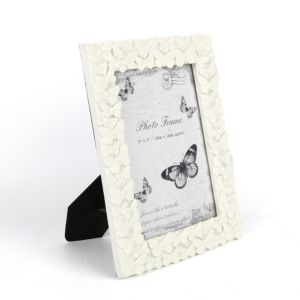 View Cream Butterfly Resin Picture Frame (H) 23cm x (W)18cm details