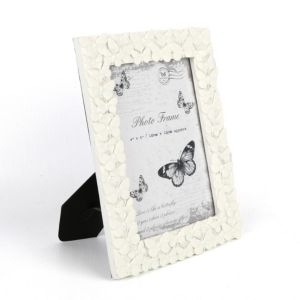 View Sil Cream Butterfly Picture Frame 4X6