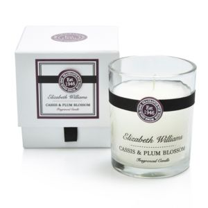 Image of Elizabeth Williams Cassis & Plum Blossom Boxed Jar Candle