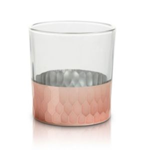 View Copper Effect Hammered Metal Glass Tealight Holder details