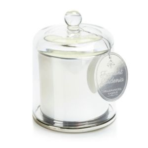 View Chrome Effect Glass Cloche Candle details