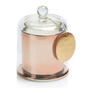 View Copper Effect Glass Cloche Candle details