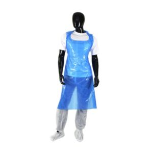 View Pal One Size Blue Disposable Aprons, 200 details