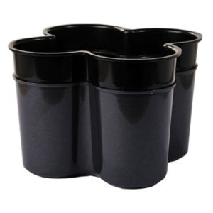 Image of Curver Cleaning Anthracite Effect Dark Grey Cutlery Caddy