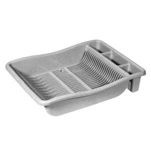 Curver Stainless Steel Effect Kitchen Dish Drainer