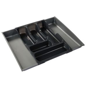 Image of Curver Anthracite Plastic Kitchen Cutlery Tray