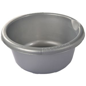 Image of Curver Cleaning Stainless Steel Effect Silver Bowl
