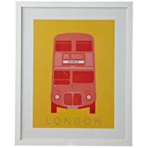 View London Bus Multicolour Framed Print (W)430mm x (H)530mm details