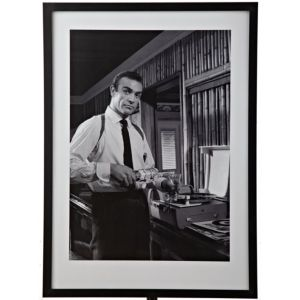 View Sean Connery Black & White Wall Art (W)53cm x (H)73cm details