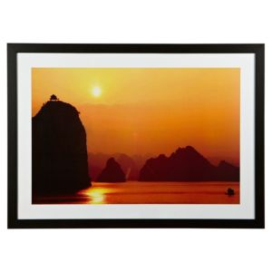 View The Far Pavilion Black, Orange & Red Framed Print (W)770mm x (H)1070mm details