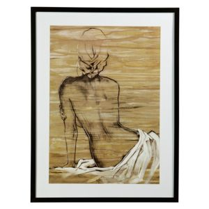View Nude Maya Black, Brown & White Framed Print (W)631mm x (H)832mm details
