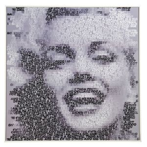 View Marilyn Monroe Black & White Framed Print (W)724mm x (H)724mm details